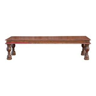 Colonial Teak Takhat Coffee Table For Sale