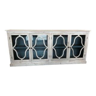 Painted Four Door Glass Buffet