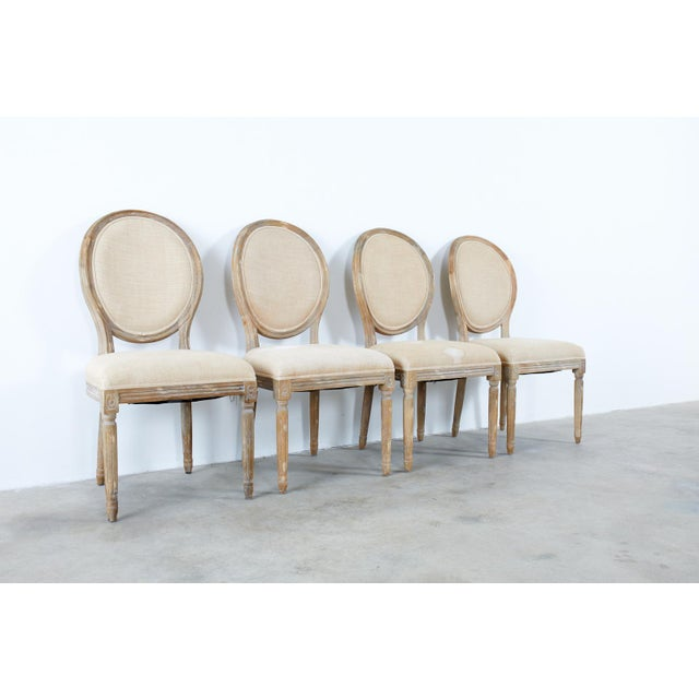 French Louis XVI Style Oak Dining Chairs - Set of 10 For Sale - Image 9 of 13