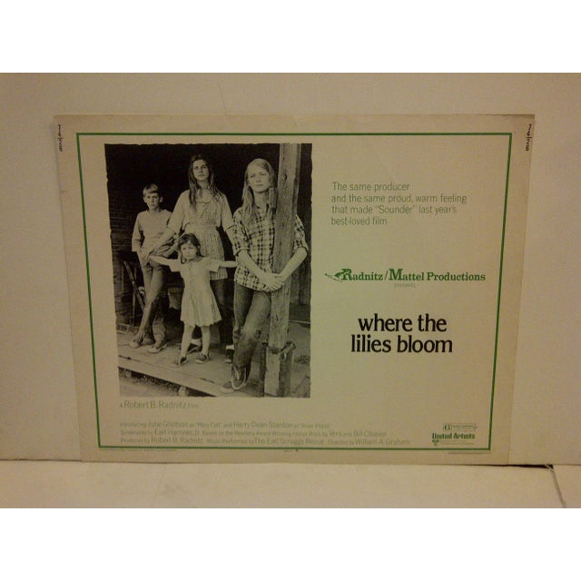 """This is a vintage movie poster for """"Where The Lilies Bloom"""" starring Julie Gholson, 74/26, in 1974. The poster is in very..."""