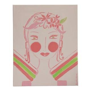 "Millennial Pink Original Acrylic Painting ""Pink Paris"" by Anastasia George"