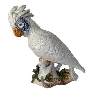 Italian Porcelain Parrot/Macaw Figurine For Sale