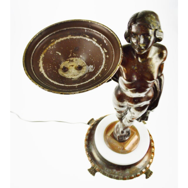 Art Deco Figural Lighted Ashtray Stand - Image 4 of 10