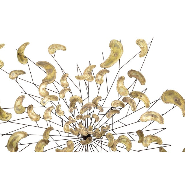 Large Brass and Metal Wall Art, Wall Sculpture - Image 3 of 8