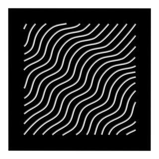 Chuck Krause Waves (Black & White), original three dimensional geometric design wall relief 2020 For Sale