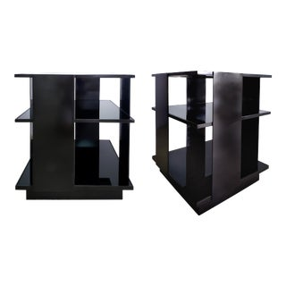 Mid-Century Modern Metal Side Tables After Baughman- a Pair For Sale