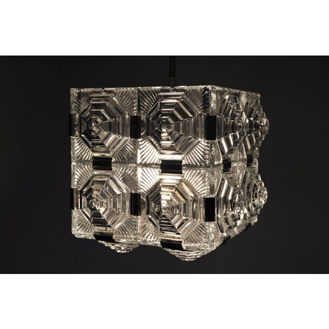 Czech Cast Glass Ceiling Lamp For Sale - Image 12 of 13