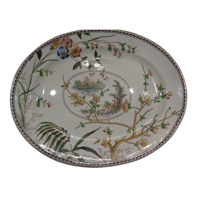 1800s S H Sampson Hancock English Large Platter - Image 1 of 5