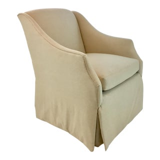 Transitional Pearson 641 Skirted Warm Beige Club Chair For Sale