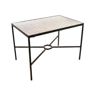 Ching Dynasty Antique Panel Custom Steel Table