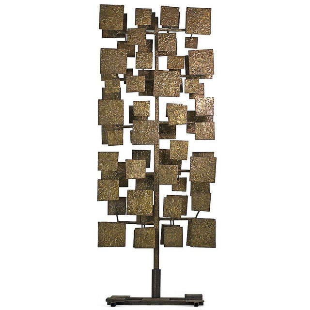 Contemporary Harry Bertoia Sculpture Screen Commissioned by Florence Knoll, Usa 1959 For Sale - Image 3 of 3