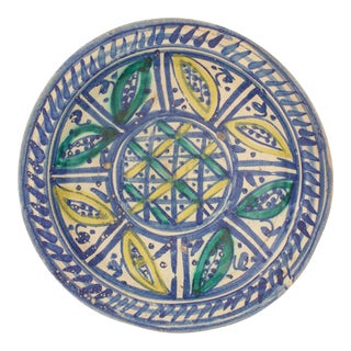 Early 20th C. Moroccan Pottery Bowl For Sale