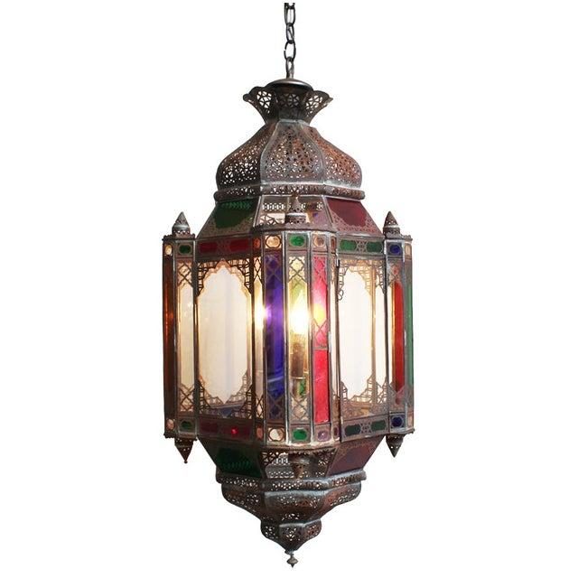 Moroccan Multicolored Lantern - Image 1 of 2