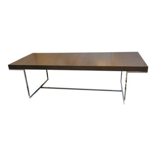 "B&b Italia ""Athos"" Grey Oak & Chrome Extendable 8ft Dining Table For Sale"
