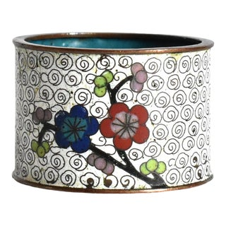 Antique Chinese Cloisonne Napkin Ring For Sale