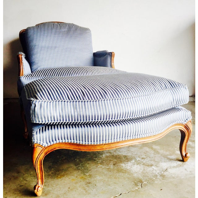 Vintage Heritage Bergere Chair & Ottoman - Image 3 of 10