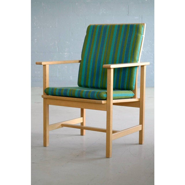 Fredericia Stolefabrik 1960s Børge Mogensen Model 2257 Oak Lounge Chair for Fredericia Stolefabrik For Sale - Image 4 of 10
