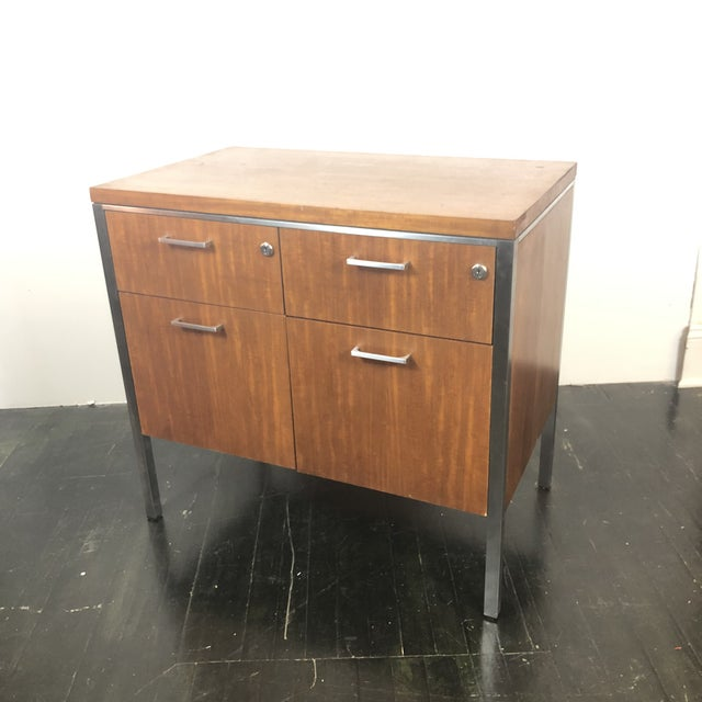 Mid-Century Modern 1960s Mid Century Modern Walnut File Drawers by the General Fireproofing Co For Sale - Image 3 of 13