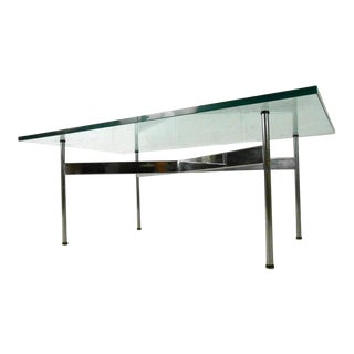 Mid-Century Modern Chrome and Glass Coffee Table for Laverne International For Sale