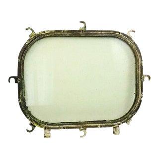 Vintage Brass Nautical Ship Stateroom Porthole Window For Sale