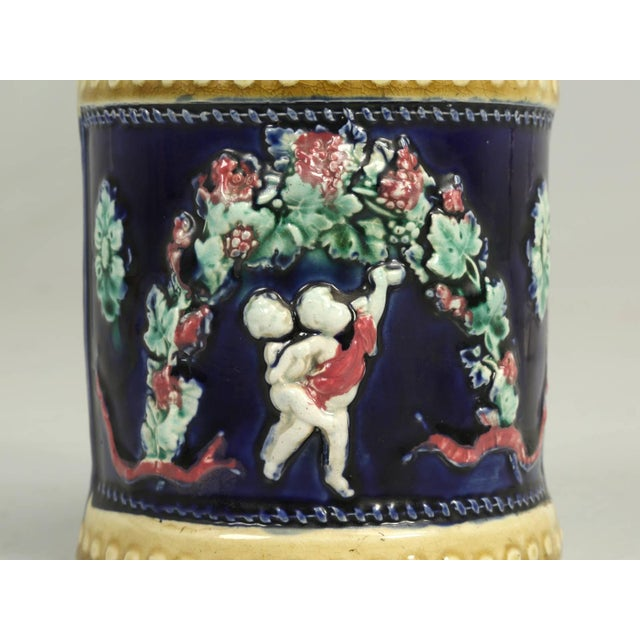 Neoclassical Antique English Deep Cobalt Blue Condensed Milk Container For Sale - Image 3 of 8