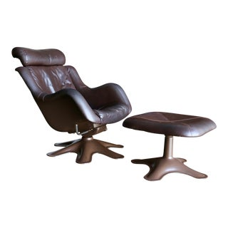 "Yrjo Kukkapuro ""Kaeuselli"" Lounge Chair and Ottoman"