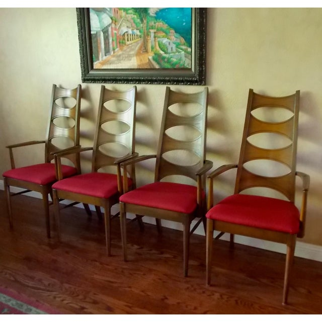 Kent Coffey Cat-Eye Dining Chairs - Set of 4 - Image 3 of 10