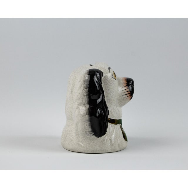 19th Century English Traditional Staffordshire Ceramic Dog Head Money Bank For Sale In New York - Image 6 of 11