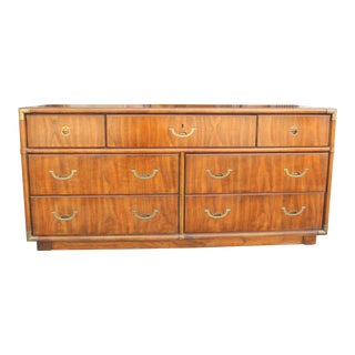 1970's Drexel Campaign Lowboy For Sale
