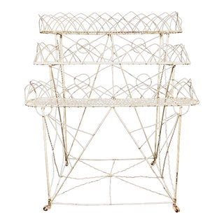Late 19th Century Antique Victorian Era Wire Plant Stand For Sale