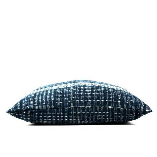 "Indigo Blue Guatemalan Throw Pillow 24"" X 24"" For Sale - Image 4 of 5"