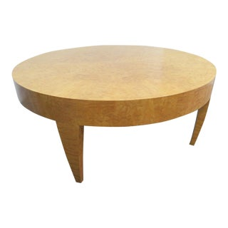 Gregg Lipton Quiltted Maple Tusk Coffee Table For Sale