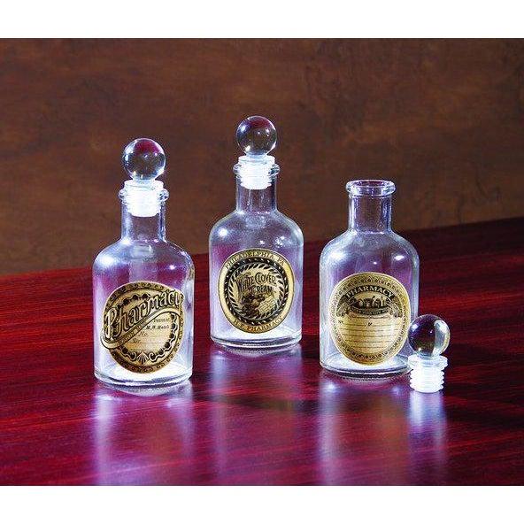 Vintage Glass Pharmacy Bottles - Set of 3 - Image 3 of 9