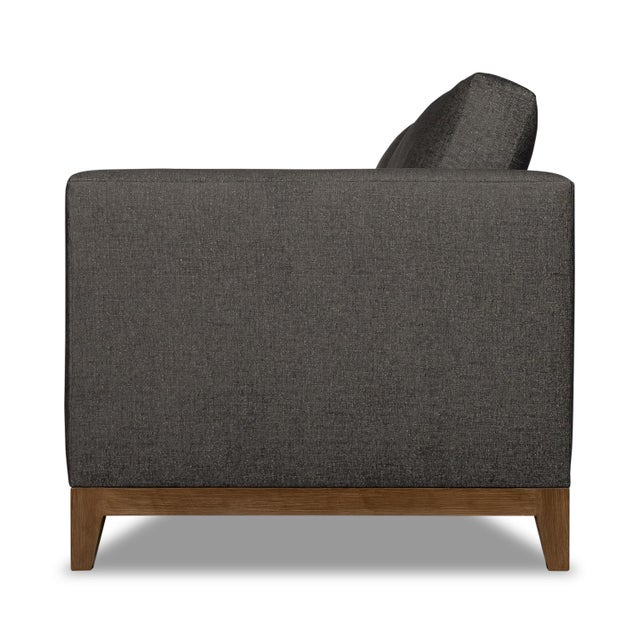 Transitional Moss Home Linda Loveseat Crypton Granbury Graphite For Sale - Image 3 of 7