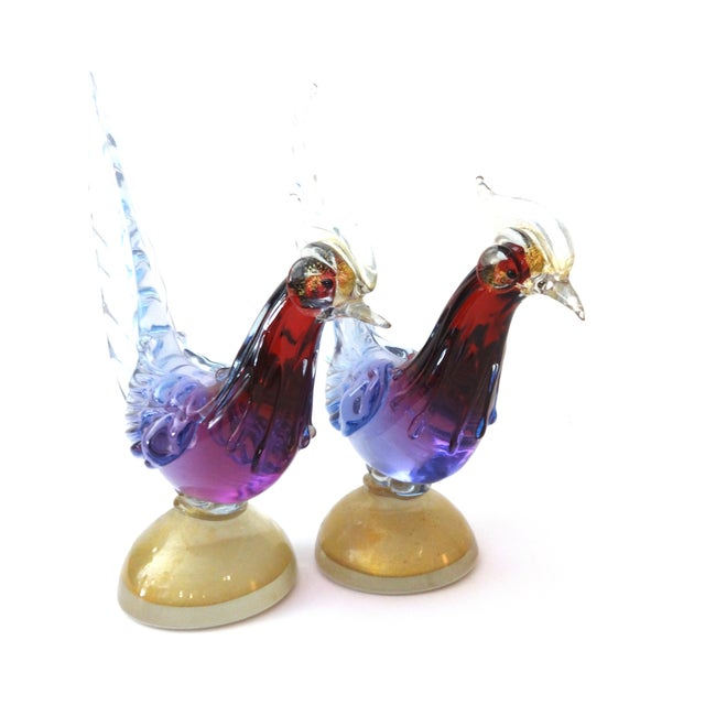 Murano Art Glass Birds - A Pair - Image 8 of 8