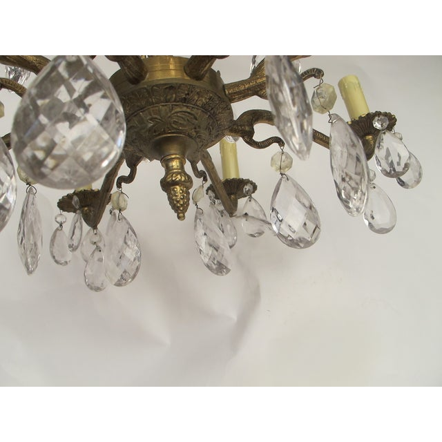 1950's Hollywood Regency Crystal Chandelier - Image 6 of 6