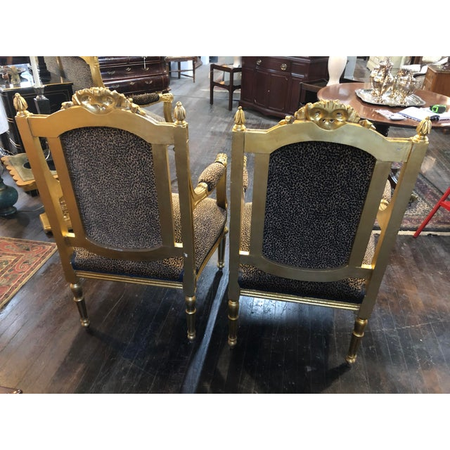 French Louis Gold Gilt Chairs - a Pair For Sale In Kansas City - Image 6 of 10