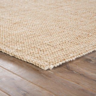 Jaipur Living Mayen Natural Solid Tan/ White Area Rug - 10′ × 14′ Preview