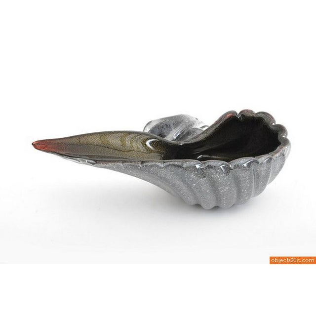 Blown Glass Shell Bowl - Image 3 of 5