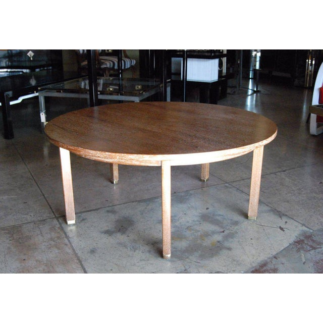 1960s Edward Wormley for Dunbar Cerused Oak Coffee Table For Sale - Image 5 of 8