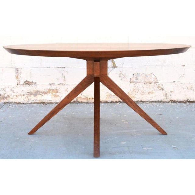 'Sputnik' Dining Table in Solid Walnut, Built to Order by Petersen Antiques For Sale - Image 10 of 11