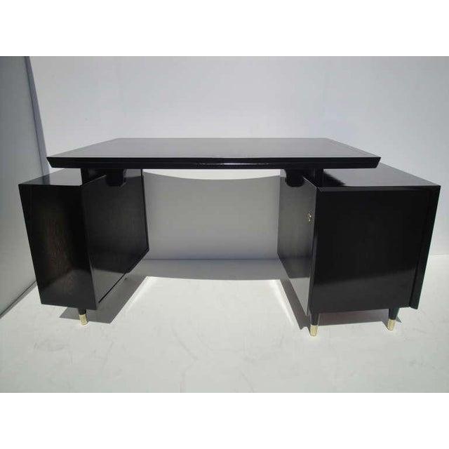 1960s Mid Century Modern Curved Partner Desk For Sale - Image 10 of 11