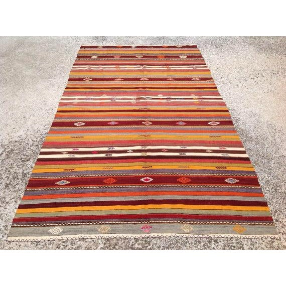 Vintage Turkish Kilim Rug - 5′10″ × 10′7″ - Image 2 of 6
