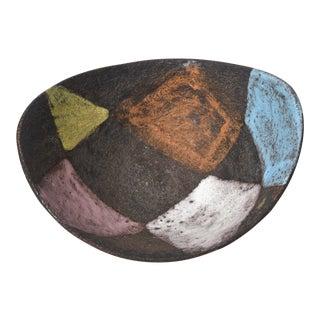 Italian Aldo Londi for Bitossi Glazed Ceramic Bowl Vintage For Sale