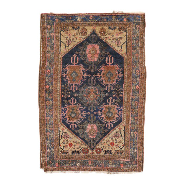 Antique Hamadan Persian Rug with Modern Style For Sale