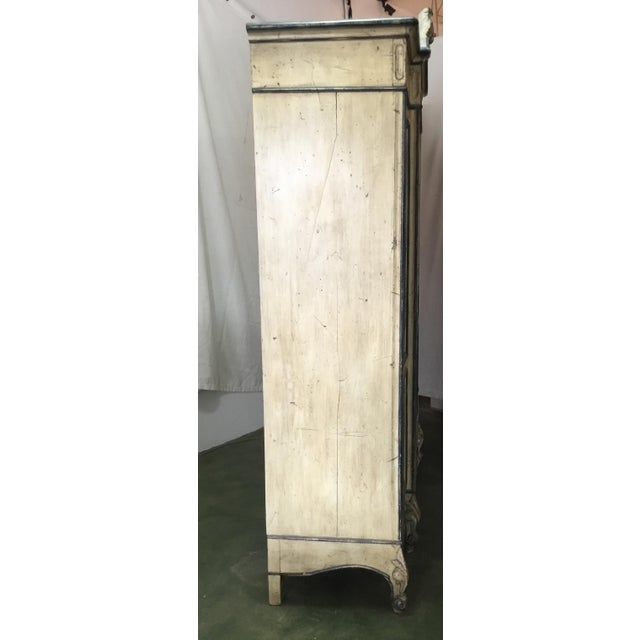 French Carved Center Crown Armoire For Sale - Image 4 of 13