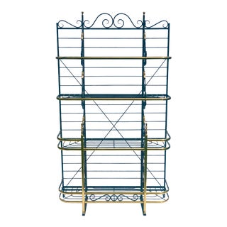French Brass Iron Bakers Rack For Sale