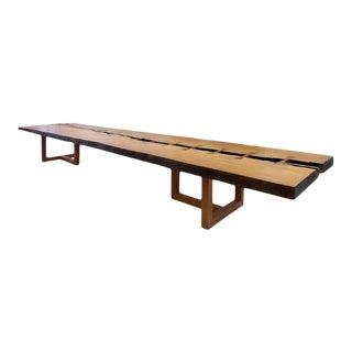 Monumental Brazilian Amazon Garapa Wood Table by Artist Valeria Totti