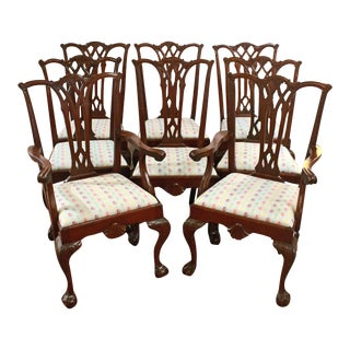 Late 19th Century American Colonial Revival Dining Chairs - Set of 8 For Sale
