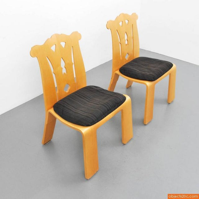 Chippendale 1980s Chippendale Robert Venturi Side Chairs - a Pair For Sale - Image 3 of 7